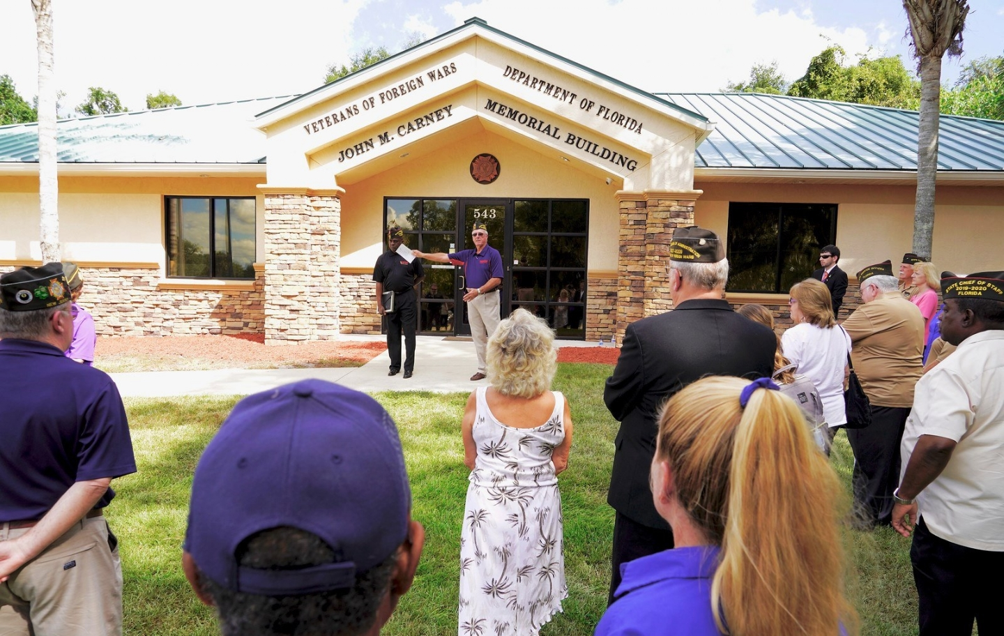 Dedication Ceremony of VFW State Headquarters to John M. Carney